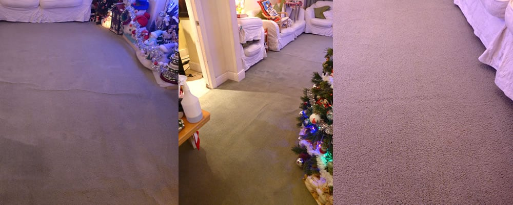 Christmas Carpet Cleaning Job in Shirley, Southampton after Photos
