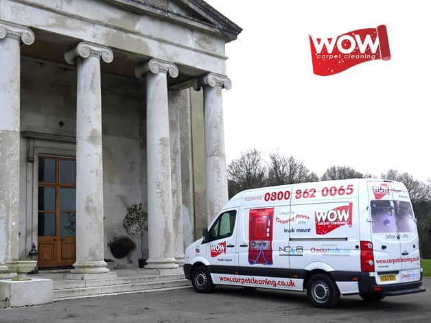 Our wonderful Wow Carpet Cleaning van.