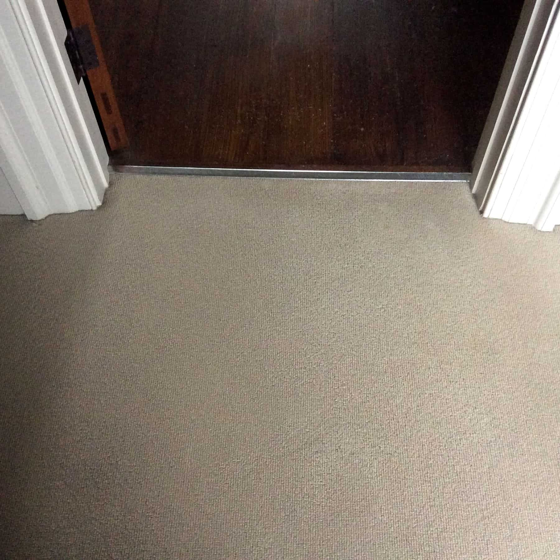 Carpet rust stain removal after
