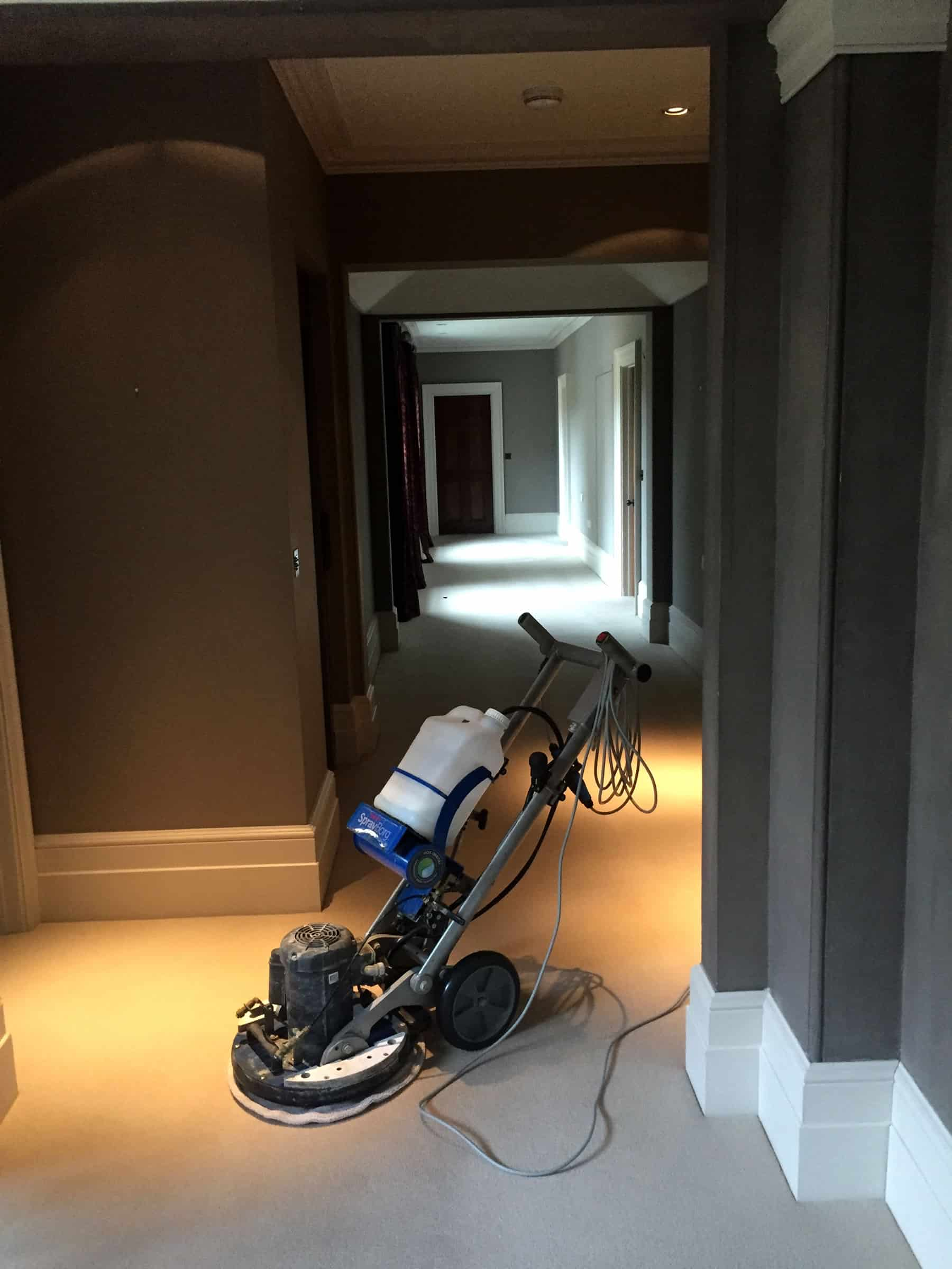Corridor carpet cleaning in Winchester