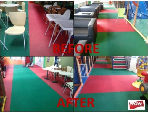 Carpet cleaning to soft-play centre in Gosport